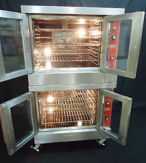VULCAN HART HOBART COMMERCIAL GAS DOUBLE CONVECTION OVEN MODEL SG44D