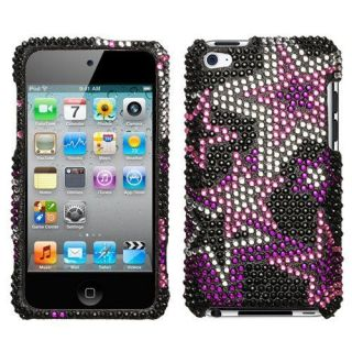Pink Stars Bling Rhinestone Case for iPod Touch 4th Gen