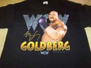 Vntg New BILL GOLDBERG T Shirt Size L WCW WRESTLING
