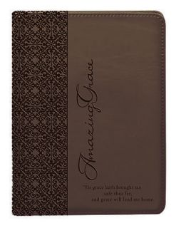 Art Gifts Classic Lux Leather Writing Journal Notebook Amazing Grace