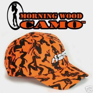 Blaze Orange Team Hard Camo Deer Hunting cap hat buck