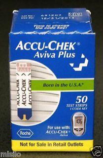 50 ACCU CHEK Aviva Plus   Blood Glucose Test Strips – Exp 12/31/2013