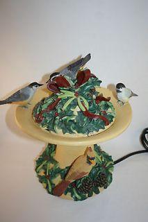 LENOX WINTER GREETINGS BIRD BATH FOUNTAIN BY CATHERINE McCLURG RARE N