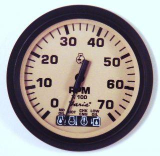 Johnson Evinrude Etec OMC Bombardier Ficht Tachometer Gauge Tach