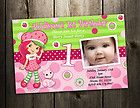 Strawberry Shortcake BIRTHDAY PARTY INVITATION TICKET CARD CUSTOM