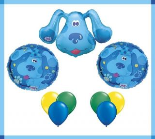 Blues Clues Balloon Birthday Party Set Lot Nick Jr Mylar Latex Bouquet