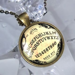 Limited Edition Vintage Ouija Board Antique Bronze Pendant Necklace