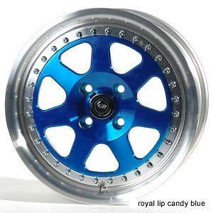 15 ROTA J MAG BLUE RIMS WHEELS 15x7 +40 4x100 CIVIC INTEGRA FIT XB