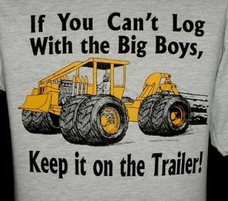 Logging T shirt with a Hot Rod Skidder XXL, 3XL or 4XL