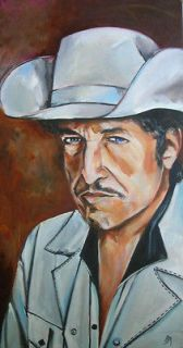 Newly listed Original Bob Dylan painting Modern Times look art by Jeff