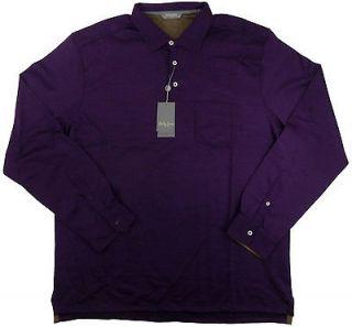 NEW Bobby Jones Trophy Mens L/S Shirt 100% Fine Italian Merino Wool