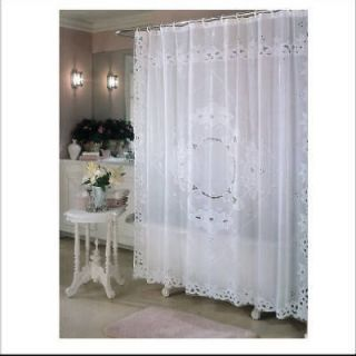 Ex Cell White, Remembrance, Vinyl Shower Curtain