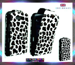 FOR BLACKBERRY TORCH 9800 STYLISH ATTRACTIVE LEOPARD FUR PRINT FLIP
