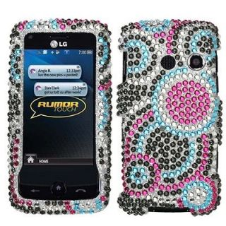 Bubble Crystal Bling Case Cover LG Banter Touch UN510
