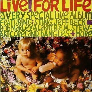 VARIOUS ARTISTS LIVE FOR LIFE REM BOB MARLEY UK LP