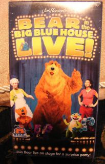 Bear In the Big Blue House Live Vhs Video~New FACTORY SEALED in