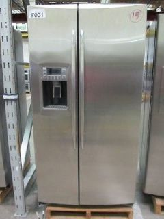 GE Monogram 36 Inch Profile Stainless Steel Side By Side Refrigerator