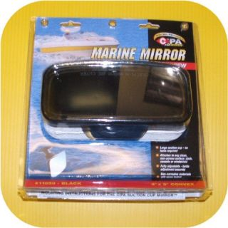 Suction Cup Mount Rear View Boat Mirror Pontoon Ski Jet
