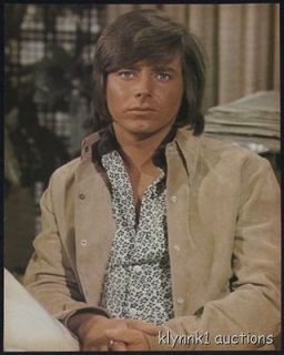Bobby Sherman wearing tan jacket PINUP 1970s #70.124