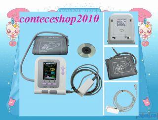 CONTEC08A Digital Blood Pressure Monitor with cuff SPO2 Probe Color