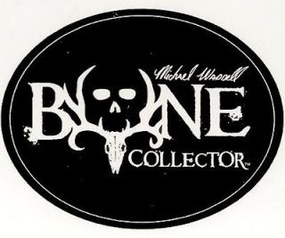 Bone Collector ~ Black Oval ~ WINDOW DECAL TRUCK AUTO