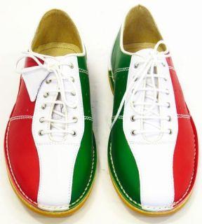 NEW MOD RETRO NORTHERN SOUL MENS BOWLING SHOES Italia / Italian