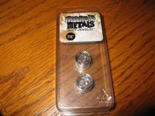 Morbid Metals Body Jewelry Brass Knuckles Plug 1/2!