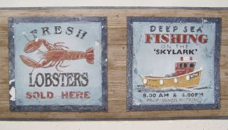 DEEP SEA & LOBSTER FISHING BOATS SEASHORE NAUTICAL Wallpaper Border 6