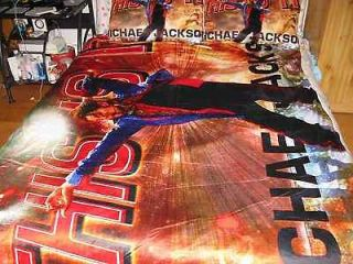 Michael Jackson MJ This is it Bed SHEET /BLANKET & Bed pillow cover