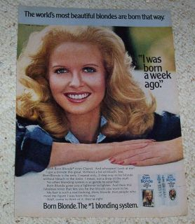 1977 ad page   Clairol Born Blonde hair color PRETTY lady hair 1 PAGE