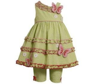 Bonnie Jean Baby Girls Boutique Outfit Size 6 9 Months Butterfly