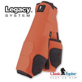equine legacy boots ORANGE FRONT horse tack SMB sport medicine boots