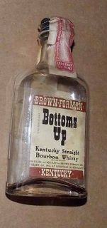 Brown Forman Bottoms Up Miniature Empty Kentucky Whiskey Bottle   Tax