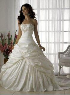 wedding dress Evening Gowns Ball plus size10 12  14 16 18,good price