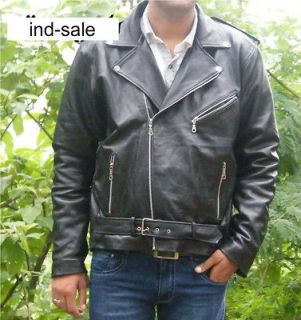 Leather Custom Tailor Made Jacket Film Ghost Rider Nicolas Cage/Brando