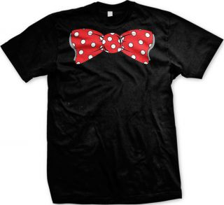 Polka Dot Bow Tie Mens T Shirt Funny College Humor Formal Informal