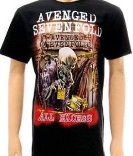 Avenged sevenfold A7X Rider Rock Punk T shirt Sz XXL 2XL Heavy Metal