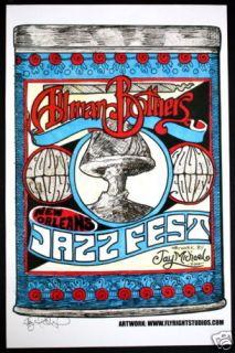 ALLMAN BROTHERS jay michael JAZZ FEST CONCERT poster