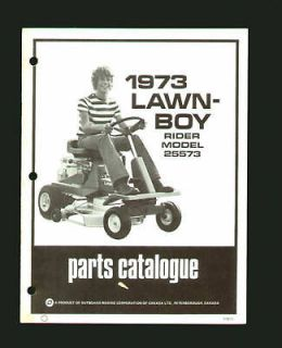 Lawn Boy Model 25573 Riding Mower Parts Catalog 1973 EX