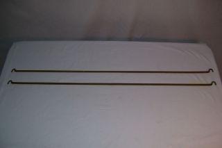 60s Staples Ladderax Brackets x 2 Cabinet Shelf Wall Unit Parts Mid