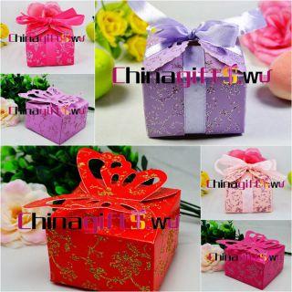 elegant shiny design wedding gift box wedding favour/candy boxes
