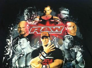 MONDAY NIGHT RAW T Shirt Youth Large John Cena Shawn Michaels Triple H