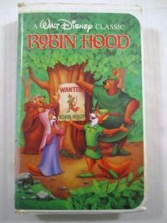 Walt Disney Classic Robin Hood Childrens VHS Tape