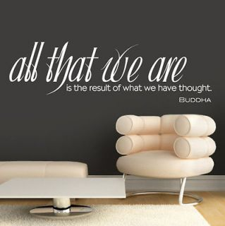 0243   All That We Are   Buddha Quote   Vinyl Wall Art   Sticker