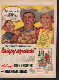 1950s KELLOGG RICE KRISPIES COWBOY HOWDY DOODY PUPPET