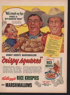1950s KELLOGG RICE KRISPIES COWBOY HOWDY DOODY PUPPET