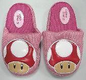 NEW Nintendo Super Mario Bros Red Mushroom Plush Doll Figure Slipper