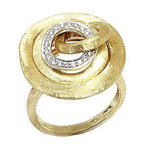 Marco Bicego  JAIPUR  Yellow Gold Diamonds Ring AB467 B Size 7