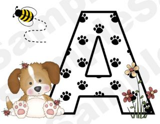 PUPPY DOG BEE BUTTERFLY NURSERY BABY WALL BORDER STICKERS DECALS