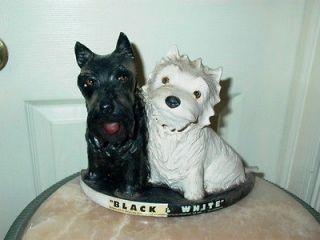 Black & White Scotch Whisky Scottie Dog Advertising Display